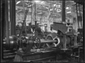 Petone Railway Workshops. Interior of a workshop showing an engine cylinder in for repair. ATLIB 274084.png