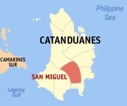 Map of San Miguel Catanduanes