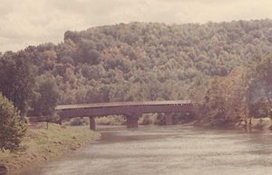 Philippi Covered Bridge - The Philippi Covered Bridge, circa 1970.