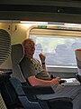 Phillip on the Paris-Milan TGV, 2009 - Flickr - PhillipC.jpg