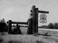 Photograph of Forest Entrance Portal on N-55 West of Cadillac - NARA - 2128112.tif