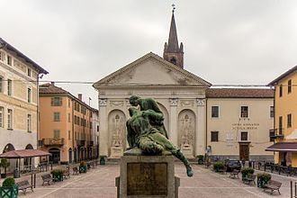 Carmagnola - Piazza Sant'Agostino, old town