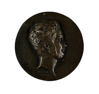 Charles Lenormant - Medallion of Lenormant by d'Angers