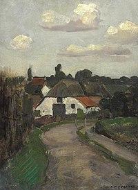 Piet Mondriaan - Roadway and farm building near Arnhem - A286 - Piet Mondrian, catalogue raisonné.jpg