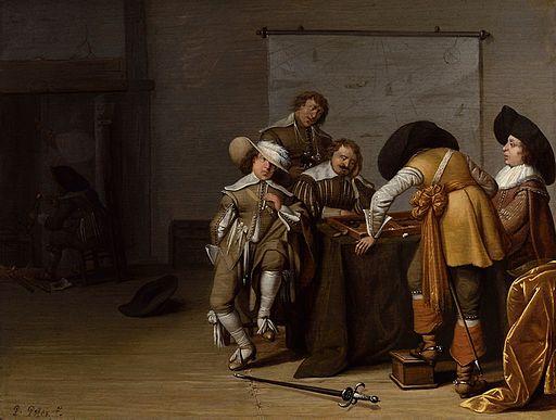 Pieter Symonsz. Potter - Guardroom Interior - WGA18225