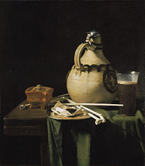 Still Life with Earthenware Jug and Clay Pipes