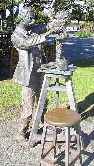 Pietro Porcelli - A bronze statue of Porcelli by Perth artist Greg James was unveiled in Kings Square, Fremantle, in 1993.