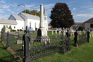 Pioneer Cemetery (Sidney, New York) - A monument in the cemetery