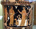 Pittore di dario, loutrophoros con sacerdotessa davanti altare di apollo, epigrafe KREOYSA (per la storia di ione), da tomba 1 di via bari (altamura), 330-320 ac ca. 02.jpg