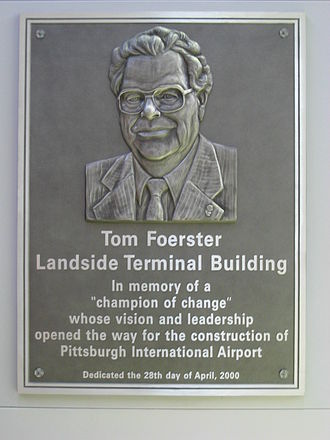 Tom Foerster - Image: Pittsburgh International Airport plaque 01