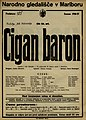 Plakat za predstavo Cigan baron v Narodnem gledališču v Mariboru 20. februarja 1927.jpg
