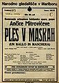 Plakat za predstavo Ples v maskah v Narodnem gledališču v Maribor 9. junija 1928.jpg