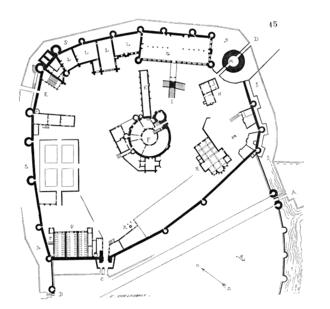 Montargis - Floorplan of the Château de Montargis