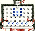 Plan of 6th century Badami Cave 3 Hindu temple, annotated.jpg