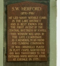 Photo of S. W. Herford plaque