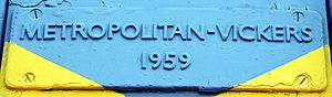 South African Class 5E1, Series 1 - Builder's plate on no. E397