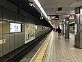 Platform of Ebisucho Station (Sakaisuji Line) 7.jpg