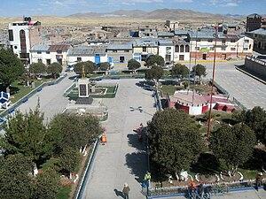 Espinar District - Image: Plaza de armas de espinar