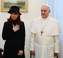 papst franziskus mit der argentinischen prsidentin cristina fernndez de kirchner bei einer audienz am 18 mrz 2013 - Papst Franziskus Lebenslauf