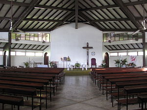 Cathédrale du Sacré-Cœur, Port Vila - Interior of the Cathédrale du Sacré-Cœur