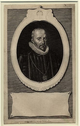Diego Sarmiento de Acuña, 1st Count of Gondomar - Portrait of Gondomar, engraving by Simon de Passe, 1622
