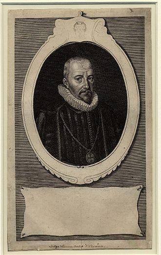 Diego Sarmiento de Acuña, 1st Count of Gondomar - Portrait of Gondomar, engraving by Simon de Passe, 1622