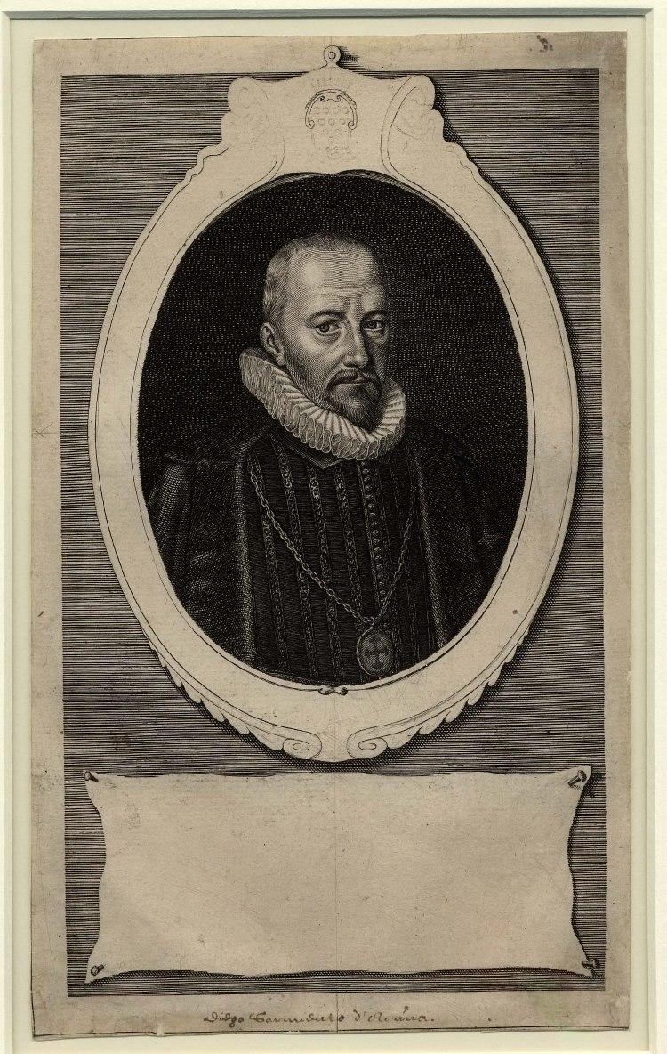 Portrait of 1st Count of Gondomar by Simon de Passe 1622
