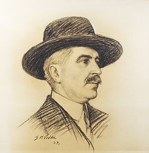 Achille Rivarde - Drawing by Simon Harmon Vedder, 1924