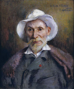 Portrait of Renoir by Marie-Félix Hippolyte-Lucas