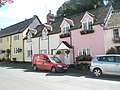 Post van outside Dunster cottages - geograph.org.uk - 925136.jpg