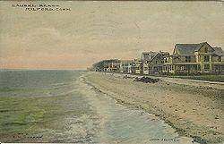 PostcardLaurelBeachMilfordCT1910