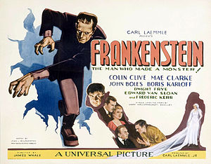 Frankenstein (1931 film) - Frankenstein movie theater lobby card
