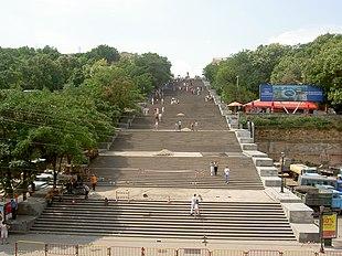 La scalinata Potëmkin a Odessa.