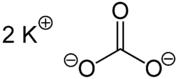 Strukturformel von Kaliumcarbonat