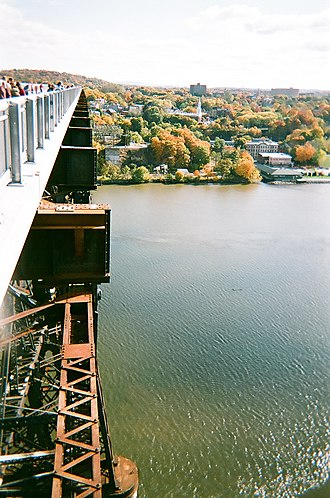 Walkway over the Hudson - Detail of concrete decking and original steel structure