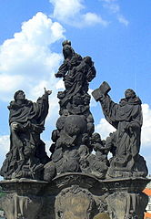 Statues of Madonna, Saint Dominic and Thomas Aquinas, Charles Bridge