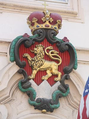 Schönborn family - Coat of arms of the Schönborn family from the Schönborn Palace in Prague.