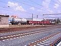 Praha-Libeň, lokomotiva 742 s vozy (01).jpg
