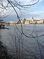 Praha - Kampa - View NNE on Karlův most & Vltava Flooding.jpg