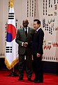 President Lee met President Abdoulaye Wade of the Republic of Senegal at Cheong Wa Dae on Nov. 23 2009 (4347681193).jpg