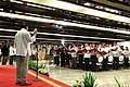 President Rodrigo Duterte administers the oath of office for the newly-elected officers of Malacañang Press Corps, Malacañang Cameramen Association, and Presidential Photojournalists Association.jpg