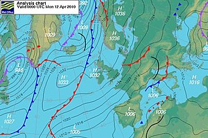 Balanced flow - An easterly westerly stream flow of global scale spans, approximately along parallels, from Russia over Europe as fas as the mid latitude Atlantic Ocean