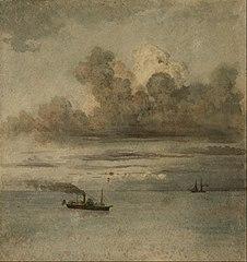 Paisaje con barcos