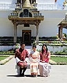 Princess Mako with King Jigme and Jetsun Pema.jpg