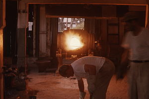 Metallurgy - Smelting, a basic step in obtaining usable quantities of most metals.