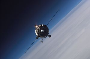 Progress M-56 - Progress M-56 approaching the ISS