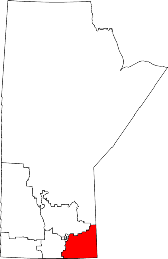 Provencher - Provencher in relation to other Manitoba federal electoral districts as of the 2013 Representation Order.
