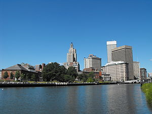Providence skyline seen looking north over the Providence River