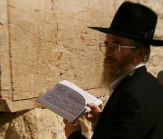 Psalms - A Jewish man reads Psalms at the Western Wall