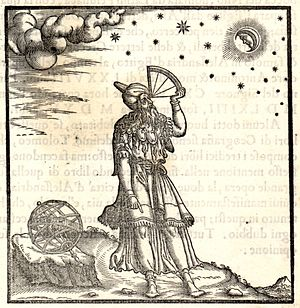 Quadrant (instrument) - Ptolemy using a quadrant